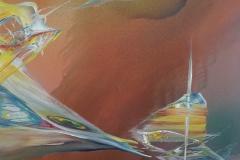Symbiose nr 16. 100 x 100 cm akryl på lærred 2004